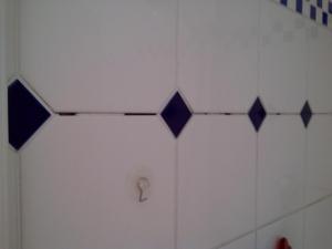 18.06 Fehlende oder defekte Zementfugen, als erstes:  Dusche sperren!